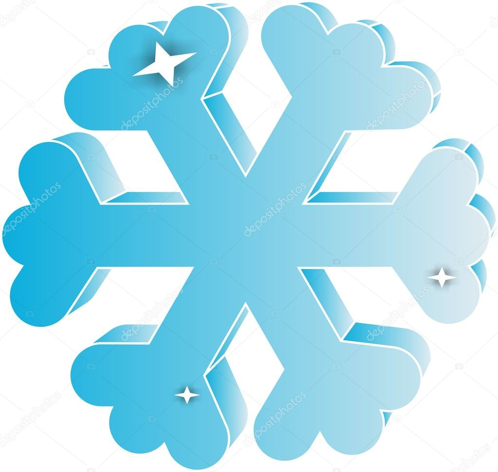 snowflake of blue colour on a white background          — Stock Vector #5427327