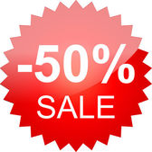 The text sale 50% — Stock Vector