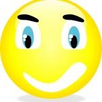Vector smiley yellow emoticon. — Stock Vector #5813960