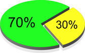Diagramme From Segments. Vector — Stock Vector