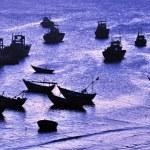 Boats at bay — Stock Photo