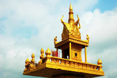 Golden shrine against sky in Cambodia — Stock Photo