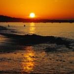 Landscape of sunrise on the beach — Stock Photo