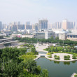 Downtown view of Xian, China - Stock Photo