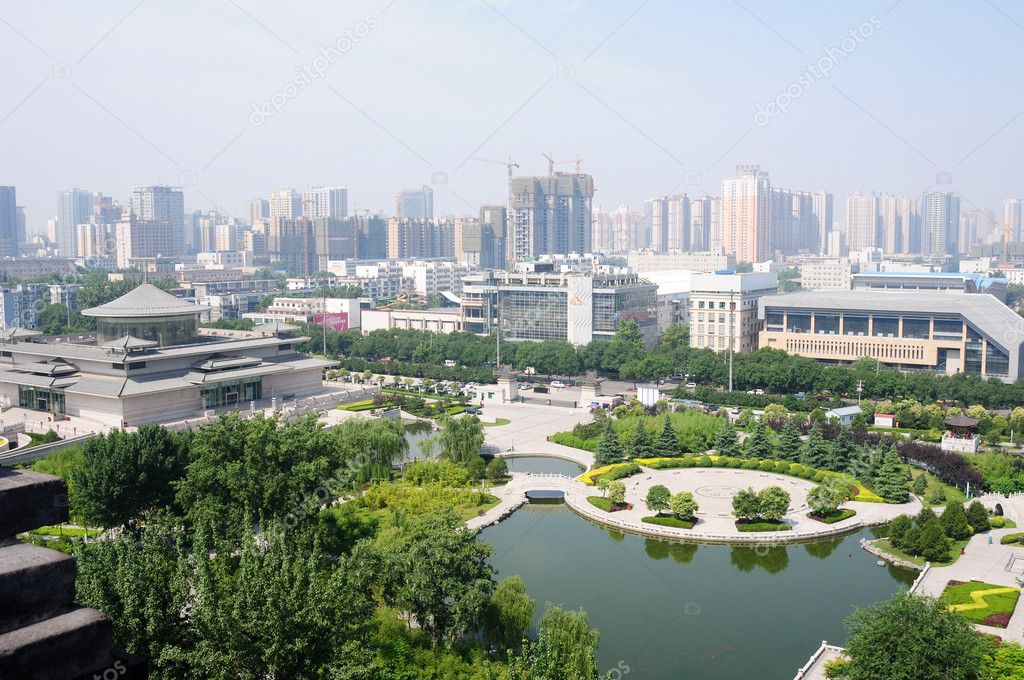 Downtown landscape in the city of Xian, China  Stock Photo #5885299
