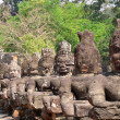 Foto Stock: Giant buddhstatue at Angkor, Cambodia