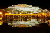 Night scenes of the Potala Palace — Stock Photo