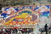 Shoton festival in tibet — Stockfoto