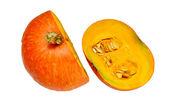 Pumpkin in halves — Stock Photo
