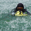 Scuba in winter — Stock Photo