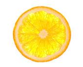 Orange slice is isolated on the white. — Stock Photo