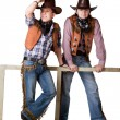 Two cowboys — Stock Photo