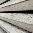 Stock Photo: Gray Concrete Foundation Piles Texture