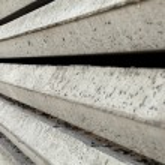 Gray Concrete Foundation Piles Texture — Stock Photo