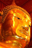The Golden Buddha Face of Phananchoeng Temple — Stockfoto