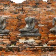Ruin of Buddha statues in Ayutthaya historical park, Thailand — Stock Photo #6532570
