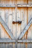 Double Wooden Barn Door — Stock Photo