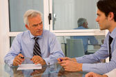 Two businessman during a meeting — Stock Photo