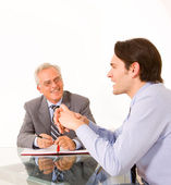 Two men during a job interview — Stock Photo