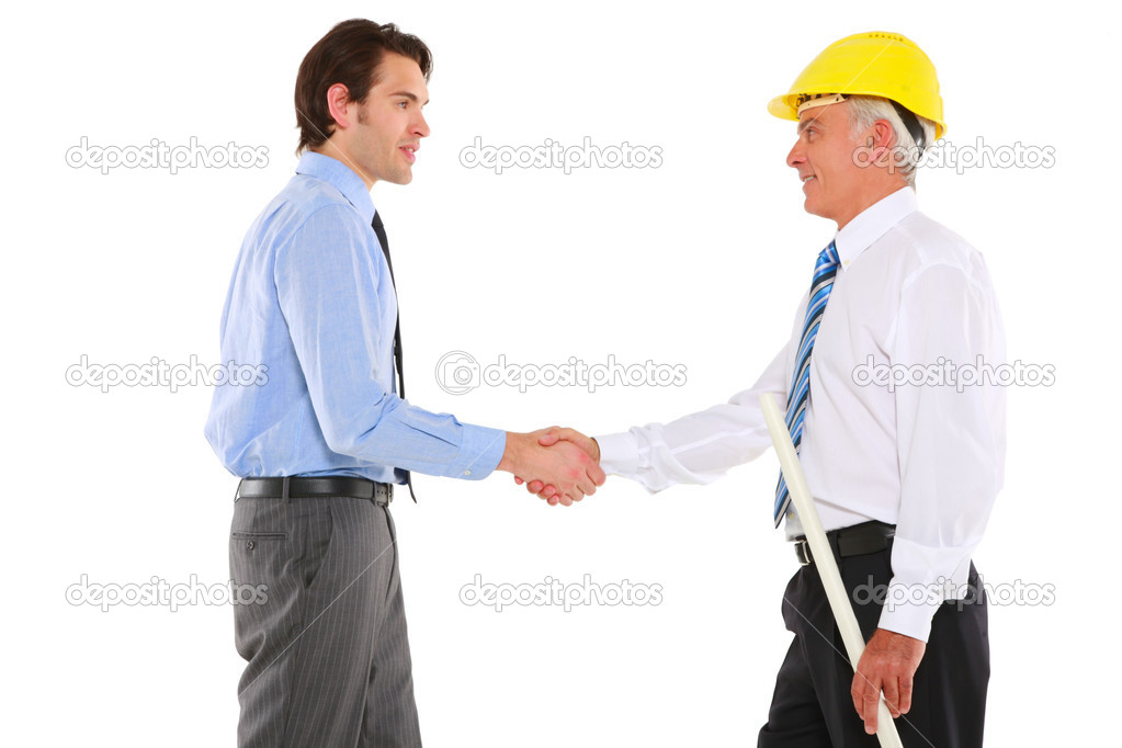 Two men shaking hands stock photo ambrophoto 6033882 for Finding subcontractors