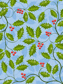 Abstract background with a holly branch — Vector de stock