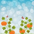 Abstract background with a pumpkin — Stock Vector #6534005