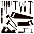 Woodwork Tools — Stock Vector