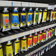 Artist Tube Acrylic Paints Display Shelf — Stock Photo