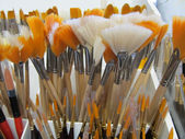 Artistic Painting Brush Display — Stock Photo
