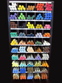 Art Studio Pastel Crayon Display Shelf — Stock Photo