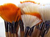 Artistic Painting Brush Display — Stock Photo