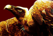 Image of Flaming Vulture from hell — Stock Photo