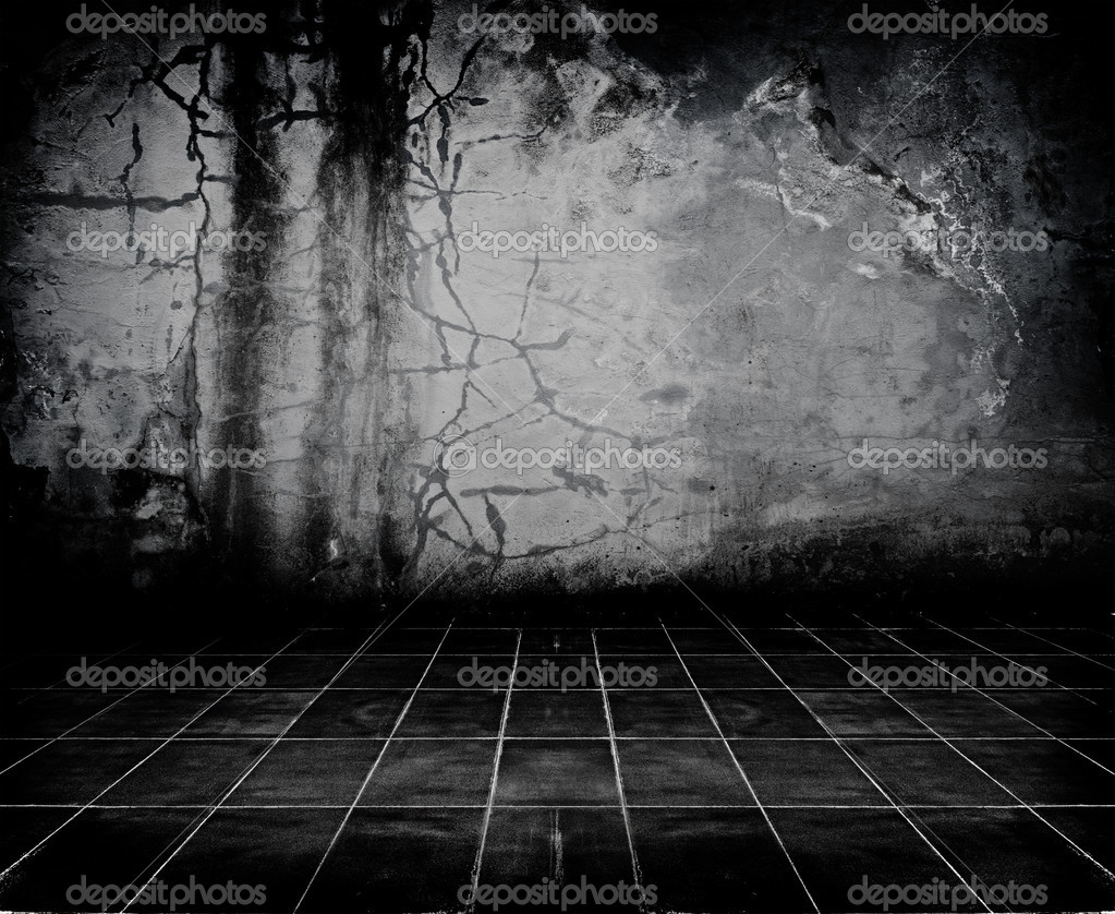 Dark Grunge Room. Digital background for studio photographers. — Stock Photo #5435749