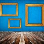 Blue empty room — Stock Photo #5772245