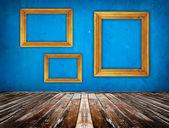 Mavi boş oda — Stok fotoğraf