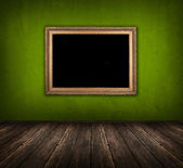 Dunkel grünes zimmer — Stockfoto