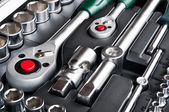 Kit of metallic tools — 图库照片