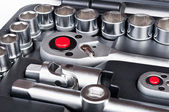 Kit of metallic tools — Stock Photo