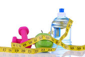 Diet diabetes weight loss concept with tape measure — Stock Photo