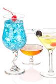 Alkollü kokteyl içki içecek blue lagoon, mojito; Tropic — Stok fotoğraf