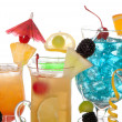 Постер, плакат: Cocktails Martini Tequila sunrise vodka blue hawaiian
