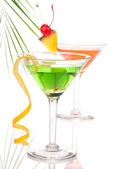 Summer Tropical Martini Cocktails with vodka — Stock Photo