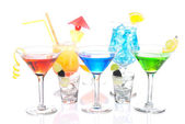 Alcoholic Cocktails variation martini — Stock Photo
