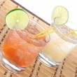 Stock Photo: Alcohol margaritcocktails or long island Iced tewith lime