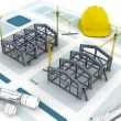 Industrial Building Construction — Stock Photo