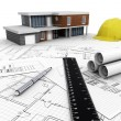 Stock Photo: Modern House Construction