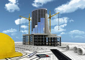 Commercial building construction — Stock Photo