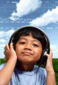 Musical Boy — Stock Photo