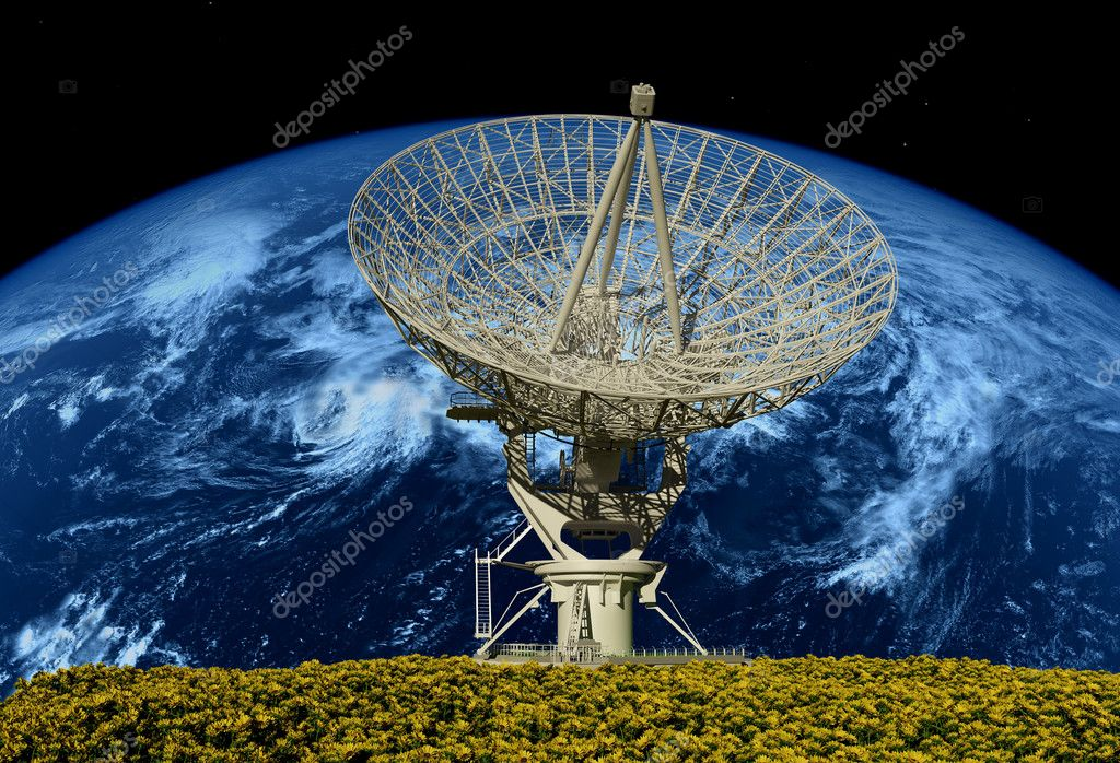 Radar on a background of a planet — Stock Photo #5969294