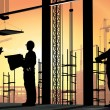 Human figures builders — Stock Photo